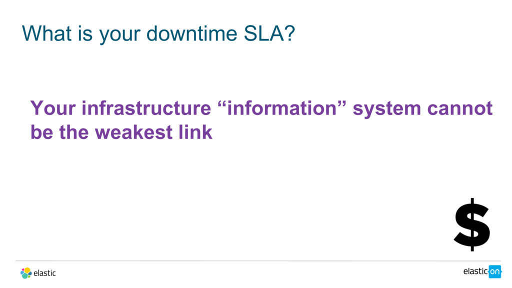What is your downtime SLA? Your infrastructure ...