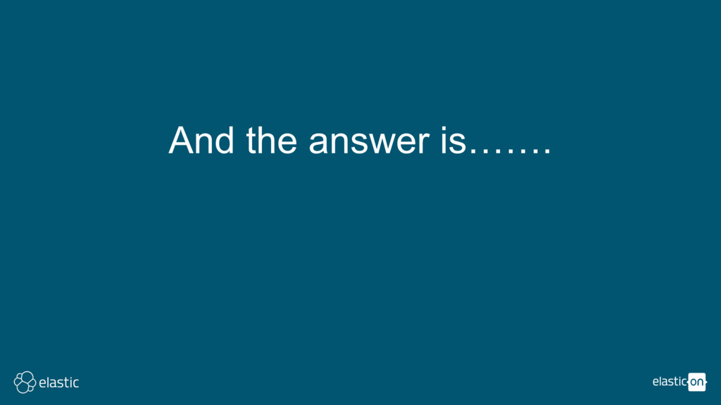 And the answer is…….