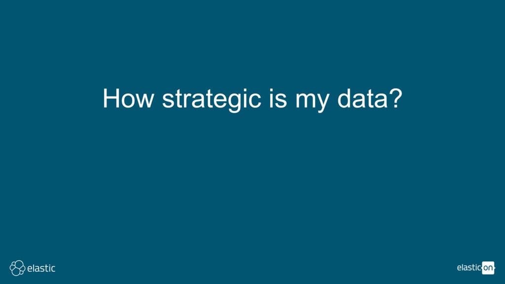 How strategic is my data?