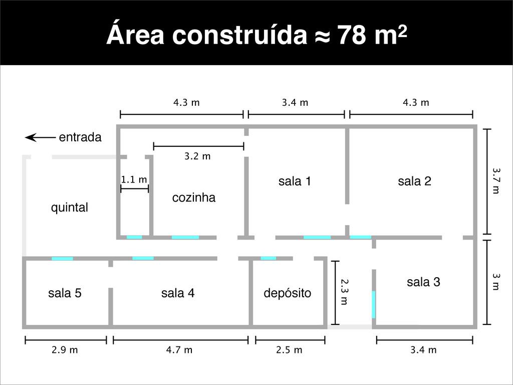 Área construída ≈ 78 m2 1.1 m 3.2 m 4.3 m 3.4 m...