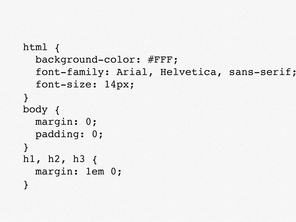 html { background-color: #FFF; font-family: Ari...