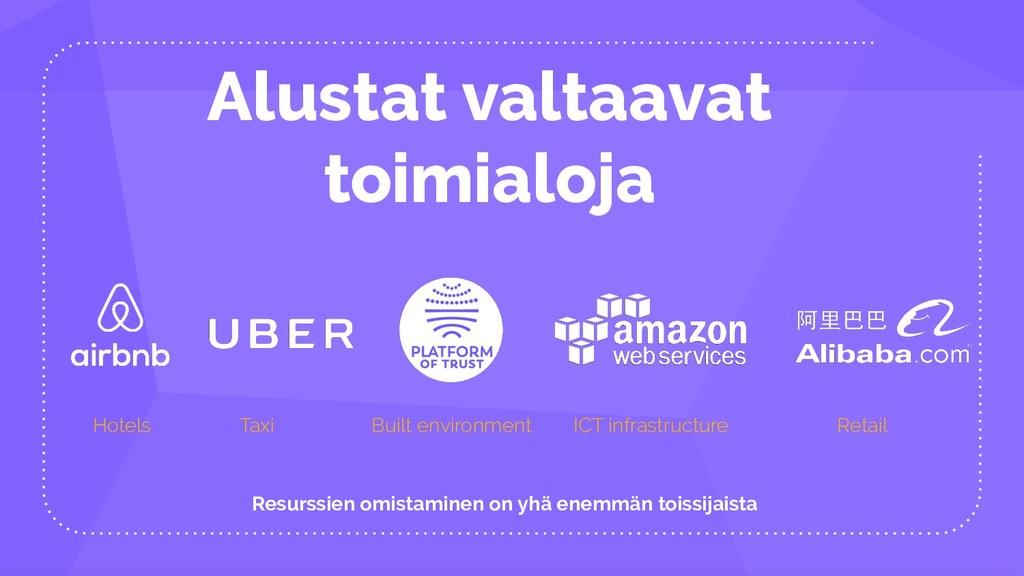 Alustat valtaavat toimialoja Hotels Taxi ICT in...