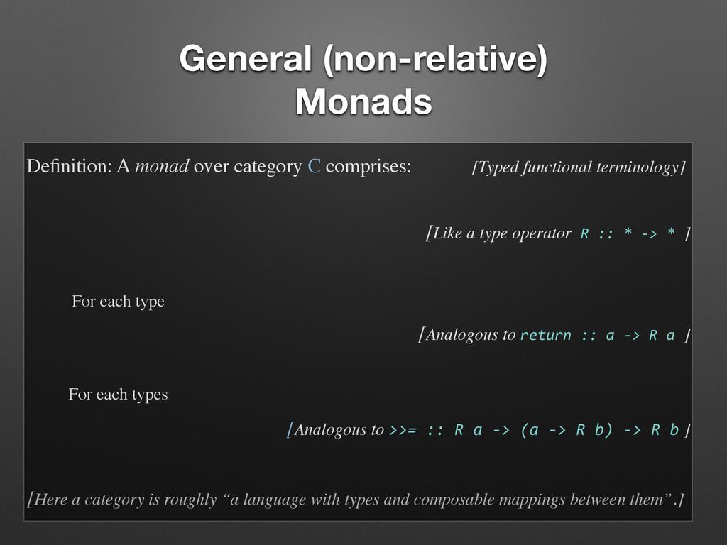 General (non-relative) Monads Definition: A mona...