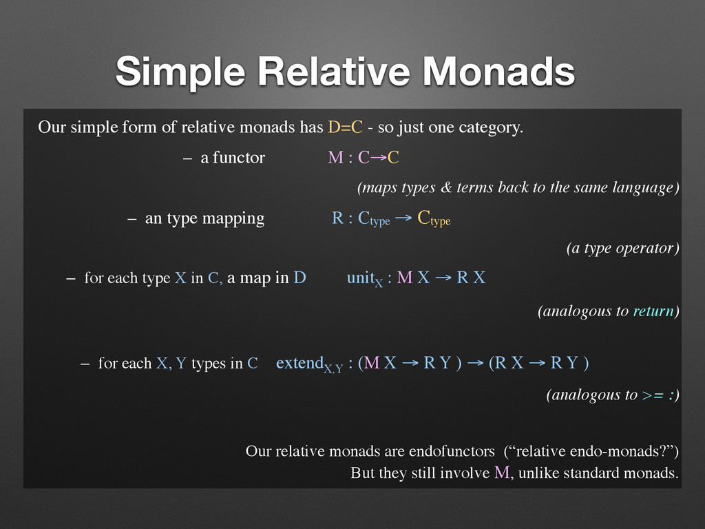 Simple Relative Monads Our simple form of relat...