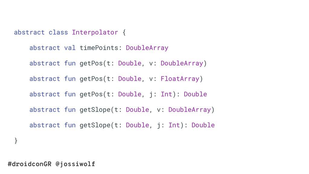 #droidconGR @jossiwolf abstract class Interpola...