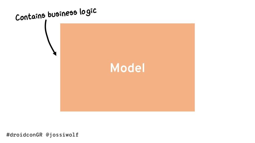 #droidconGR @jossiwolf Model