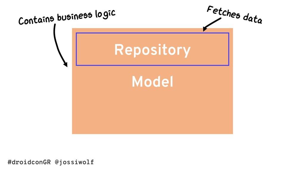 #droidconGR @jossiwolf Model Repository