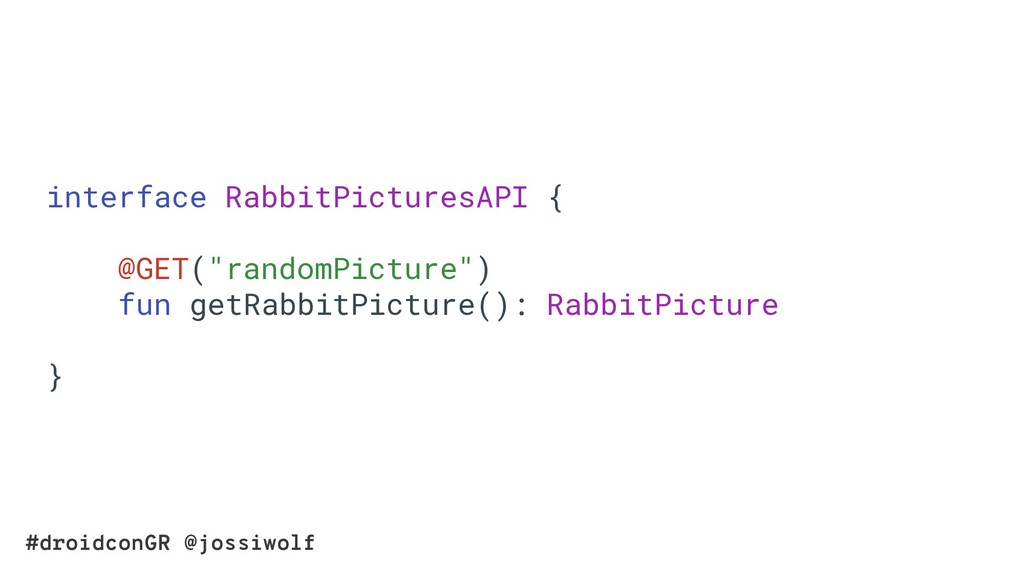 #droidconGR @jossiwolf interface RabbitPictures...