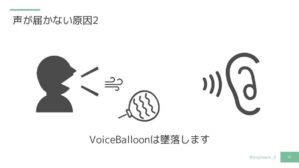 #engineers_lt 19 声が届かない原因2 VoiceBalloonは墜落します