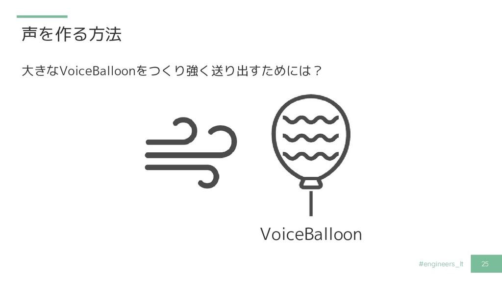 #engineers_lt 25 声を作る方法 大きなVoiceBalloonをつくり強く送り...