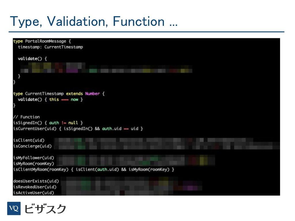 Type, Validation, Function ...