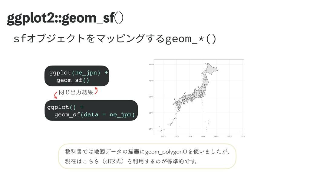 ಉ͡ग़ྗ݁Ռ HHQMPUHFPN@TG   ggplot(ne_jpn) + geom...