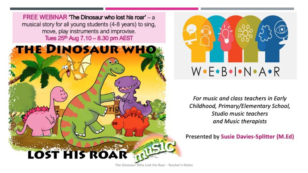 The Dinosaur Who Lost His Roar - Teacher's Notes