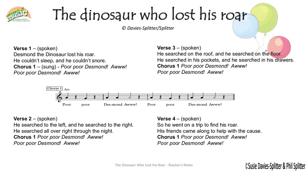 The dinosaur who lost his roar © Davies-Splitte...