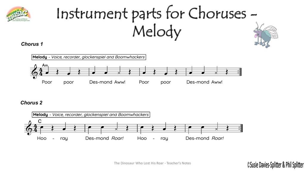 Instrument parts for Choruses - Melody Chorus 1...