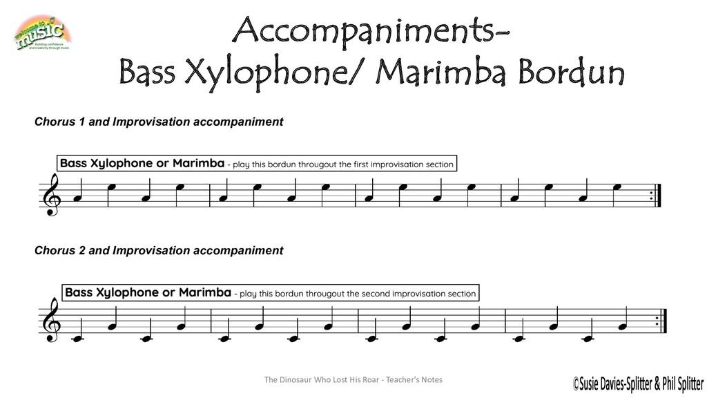 Accompaniments- Bass Xylophone/ Marimba Bordun ...