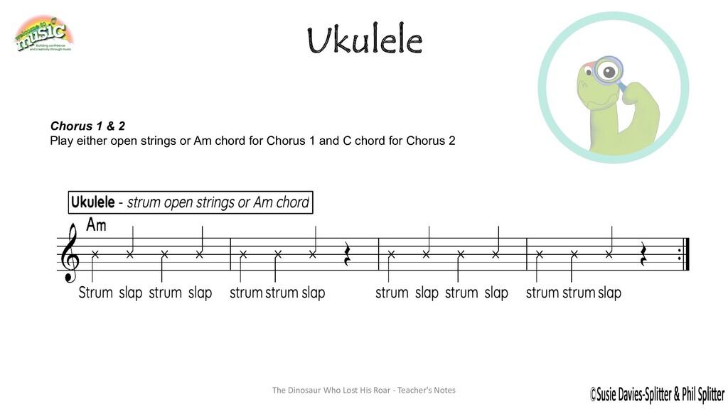 Ukulele Chorus 1 & 2 Play either open strings o...