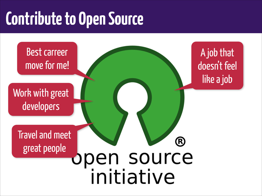 Contribute to Open Source Best carreer move for...