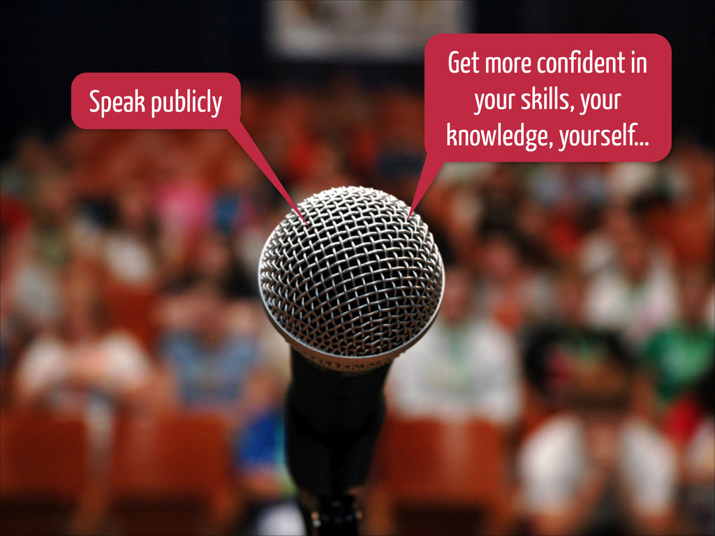 Speak publicly Get more confident in your skill...