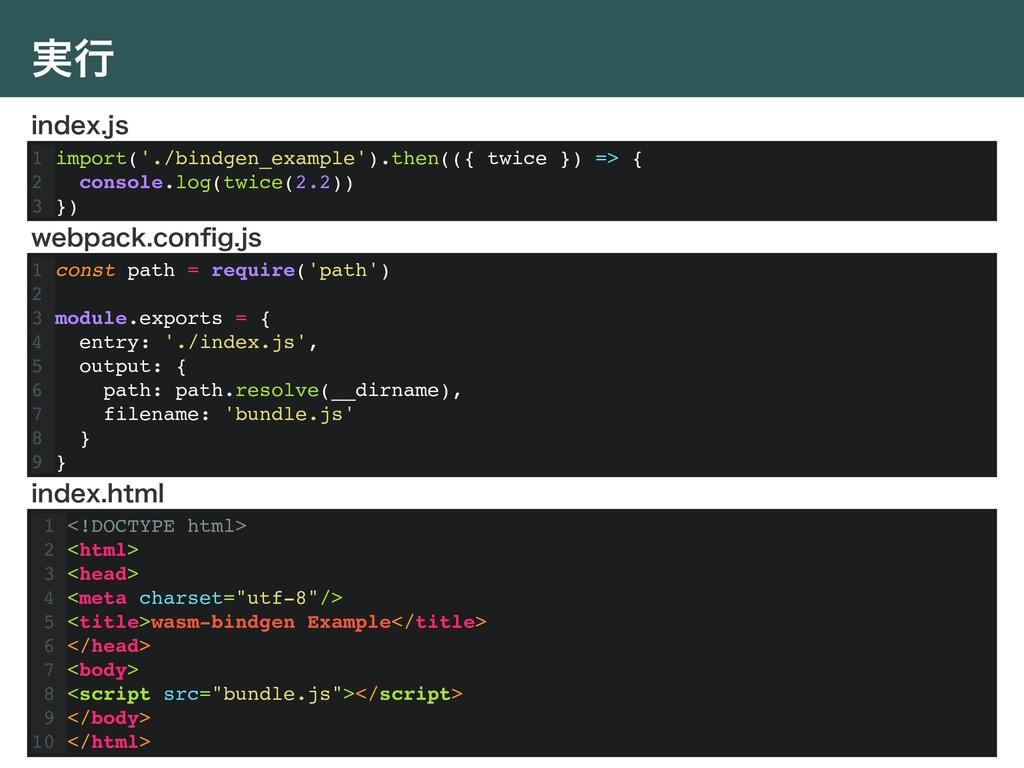 ࣮ߦ 1 import('./bindgen_example').then(({ twice ...