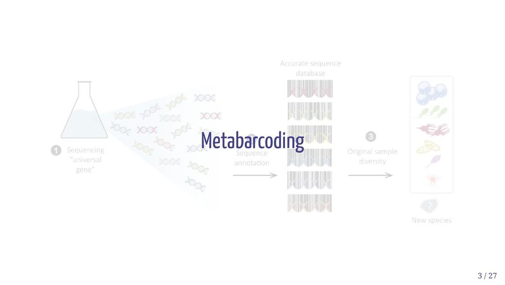 Metabarcoding 3 / 27