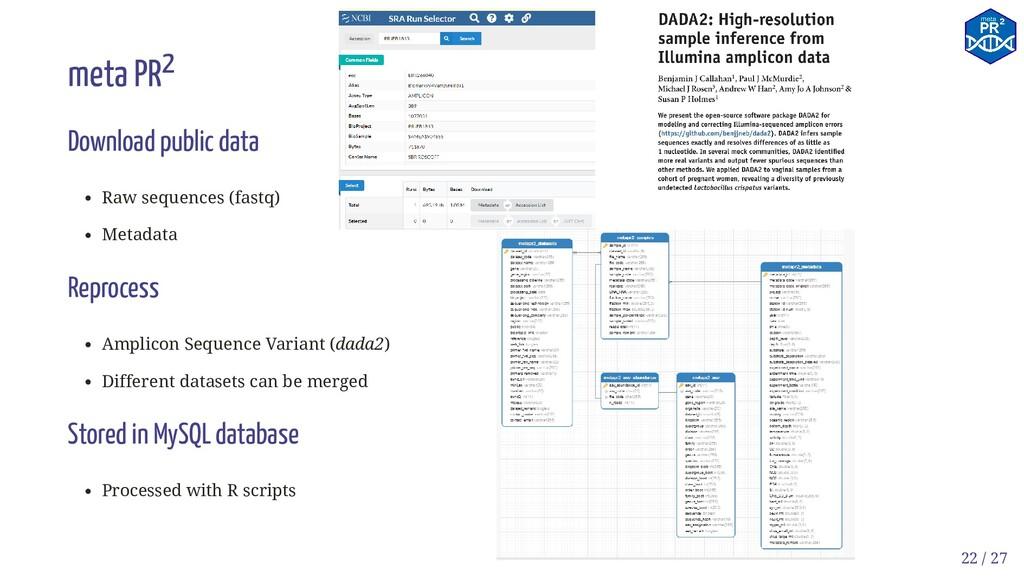 meta PR2 Download public data Raw sequences (fa...