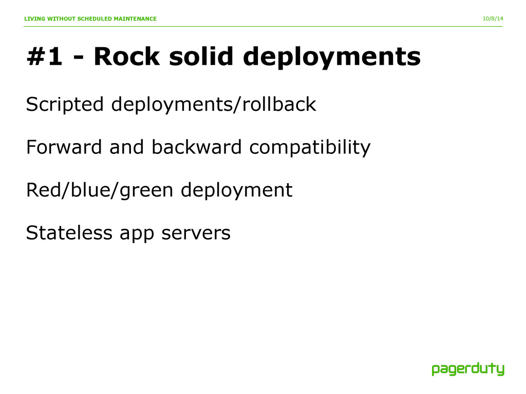 10/8/14 #1 - Rock solid deployments LIVING WITH...