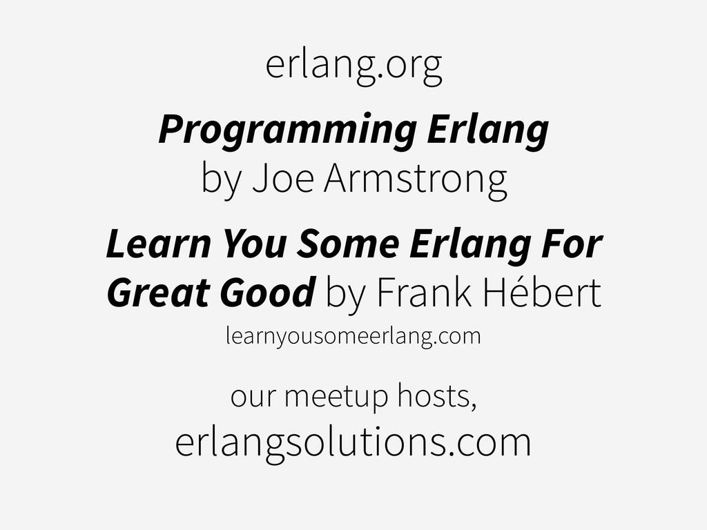 erlang.org Programming Erlang by Joe Armstrong ...