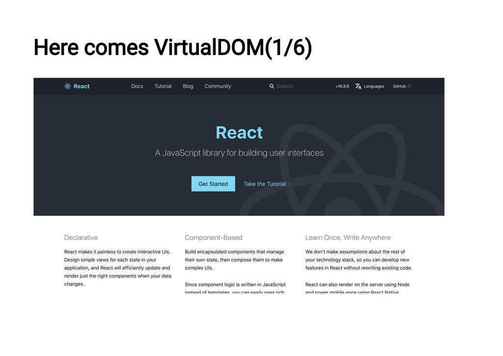 Here comes VirtualDOM(1/6)