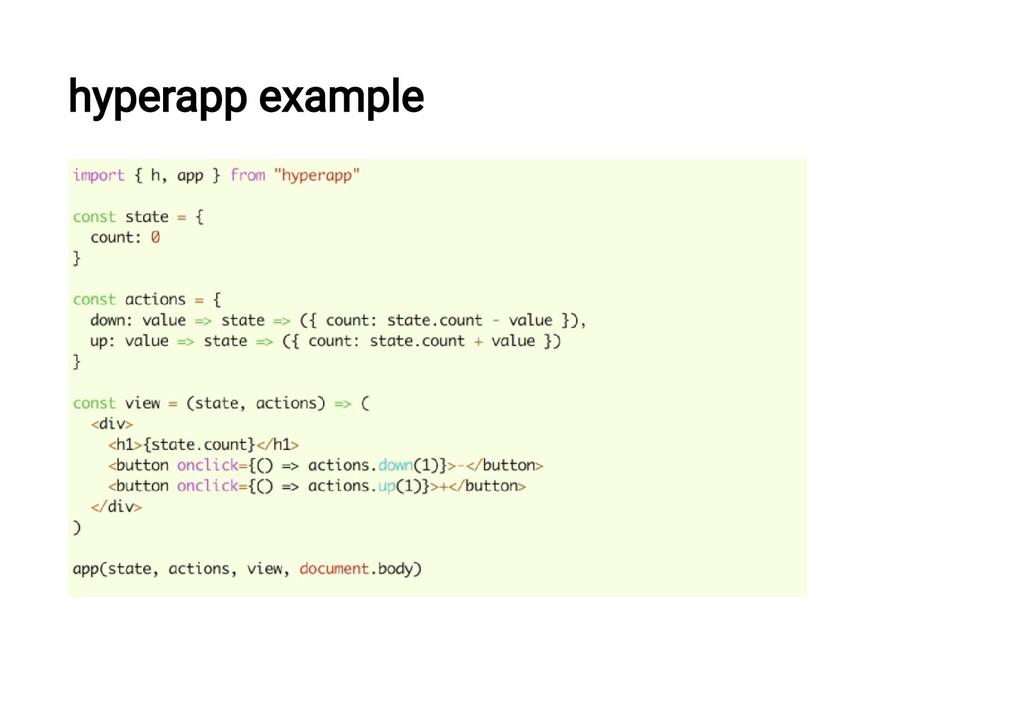 hyperapp example