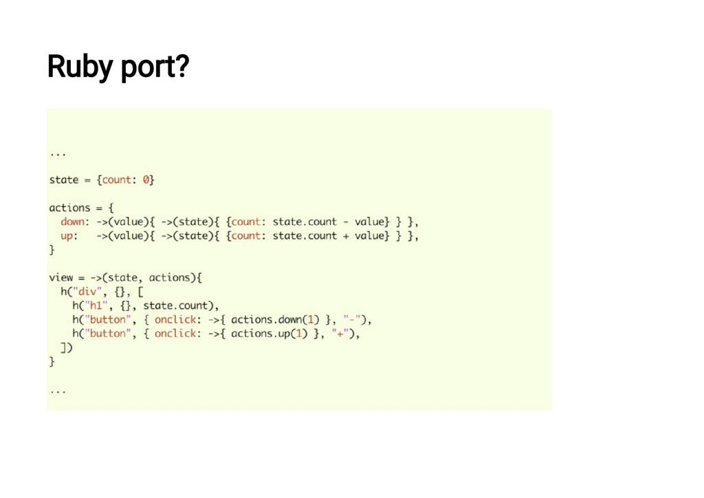Ruby port?