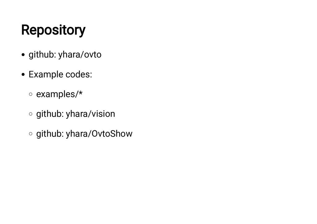 Repository github: yhara/ovto Example codes: ex...