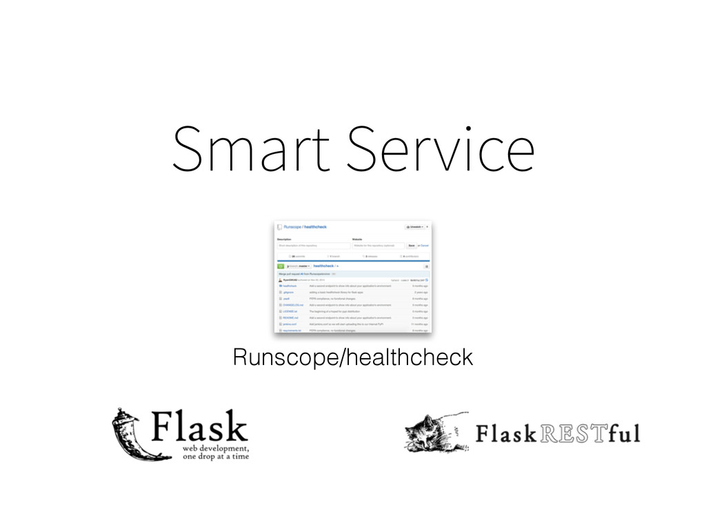 Smart Service Runscope/healthcheck