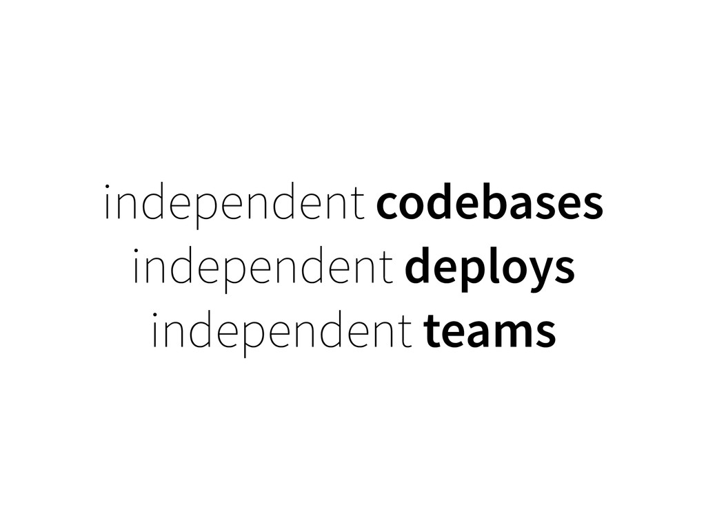 independent codebases independent deploys indep...