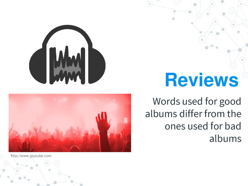 Reviews Words used for good albums differ from ...