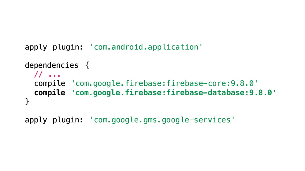 apply plugin: 'com.android.application' depende...