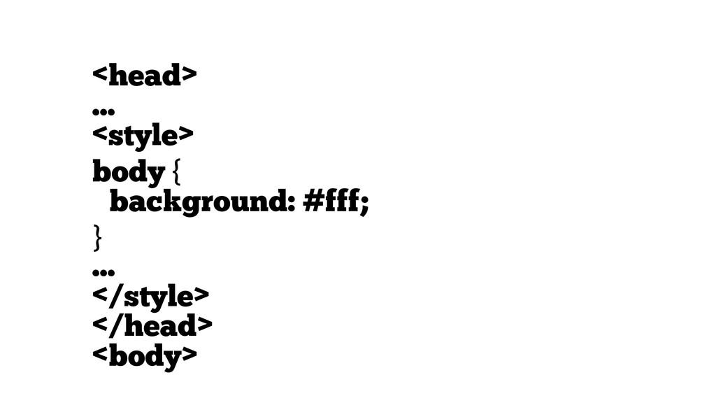 <head> ... <style> body { background: #fff; } ....