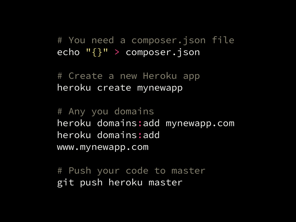 "# You need a composer.json file echo ""{}"" > com..."