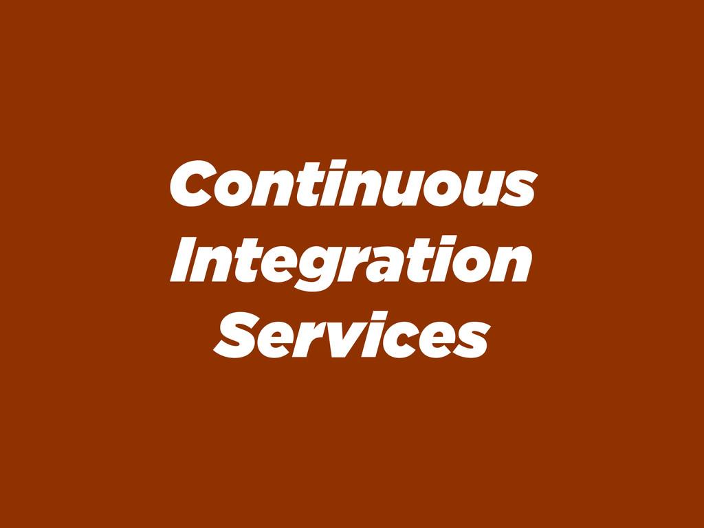 Continuous Integration Services
