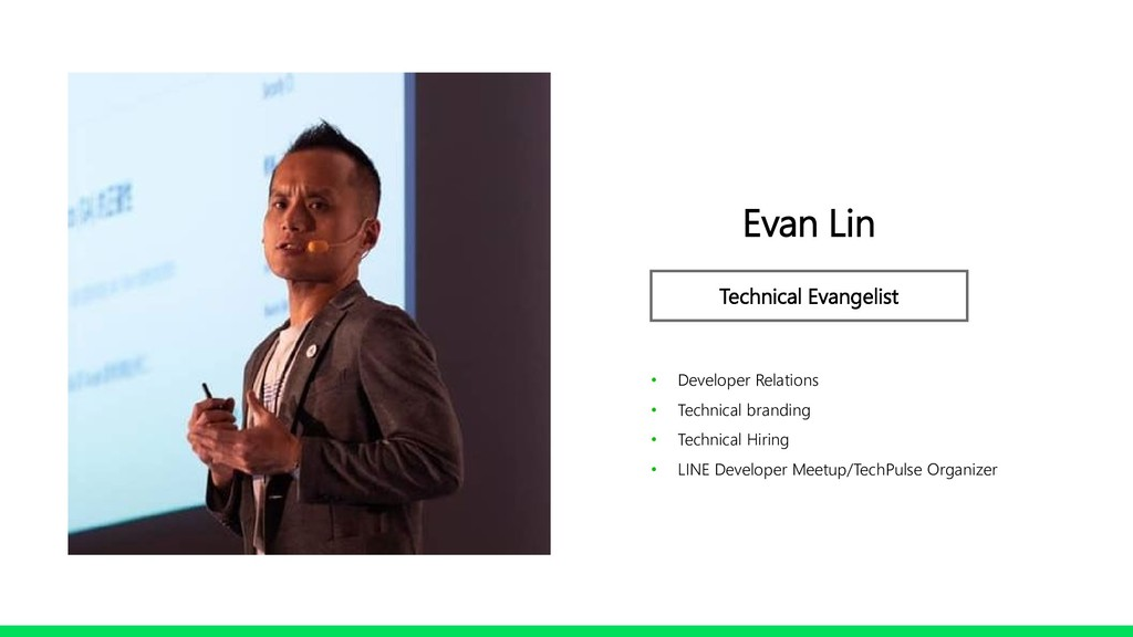 Profile Image Evan Lin Technical Evangelist • D...