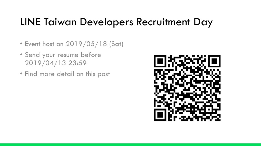 LINE Taiwan Developers Recruitment Day • Event ...