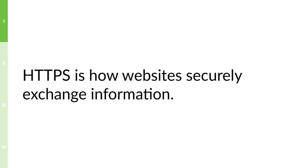HTTPS is how websites securely exchange informa...