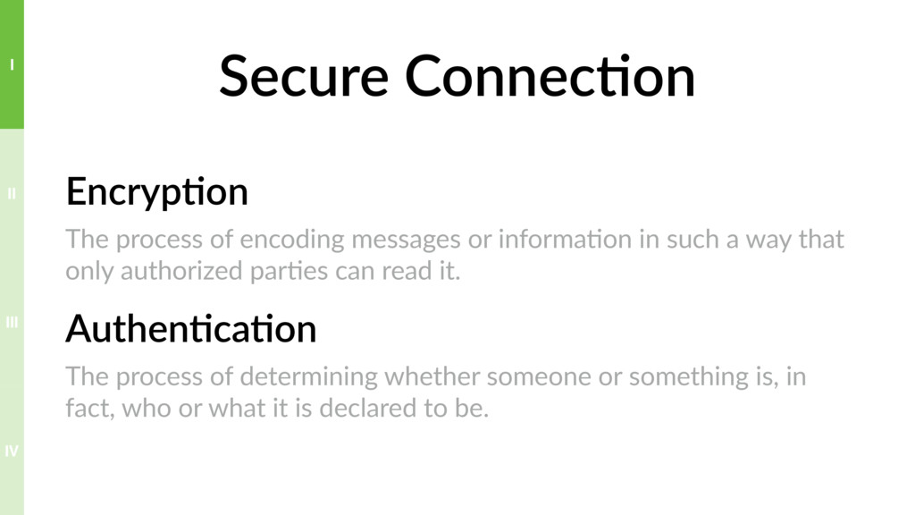 Secure Connec>on Encryp>on The process of encod...