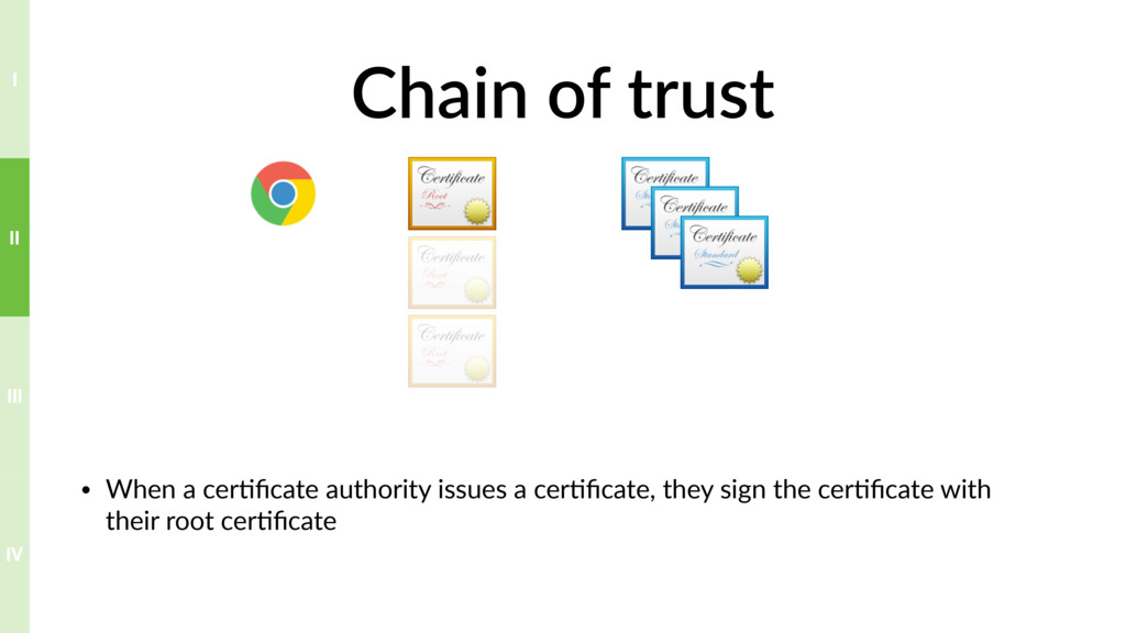 Chain of trust • When a cer?ficate authority iss...