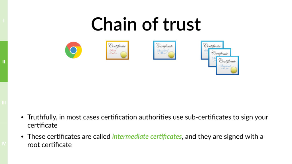 Chain of trust • Truthfully, in most cases cer?...