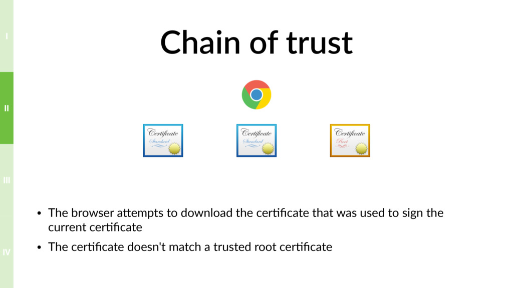 Chain of trust • The browser aTempts to downloa...