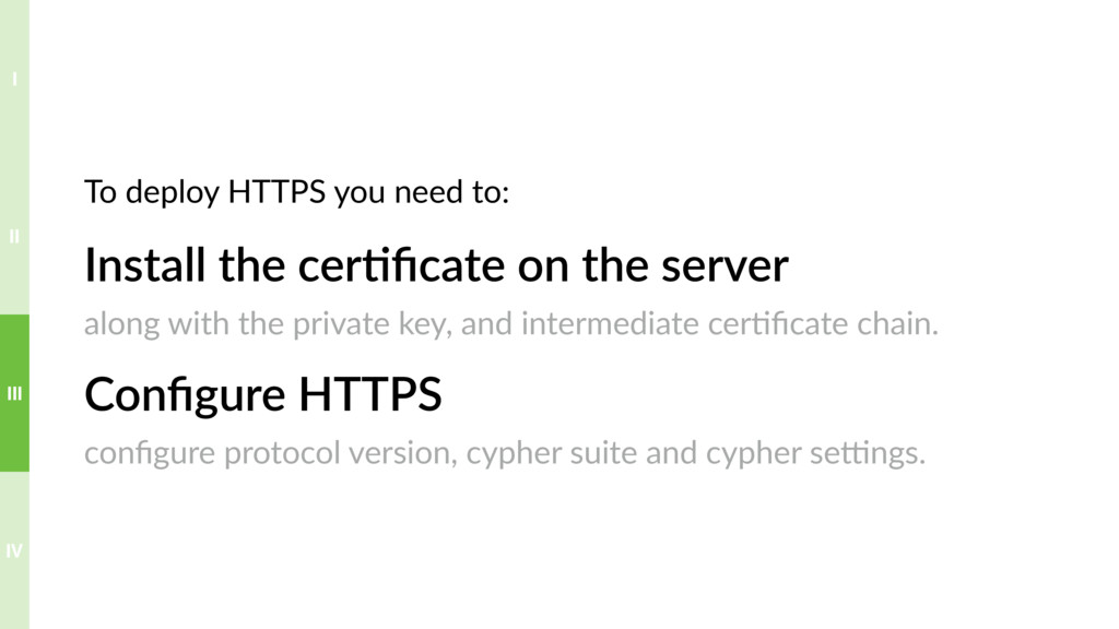Install the cer>ficate on the server along with ...