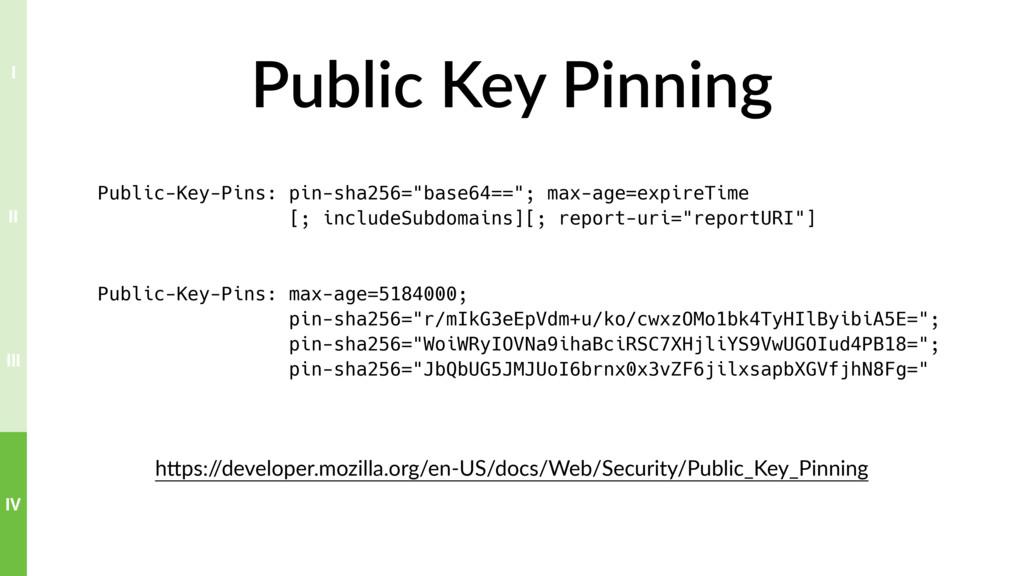 Public Key Pinning hTps:/ /developer.mozilla.or...