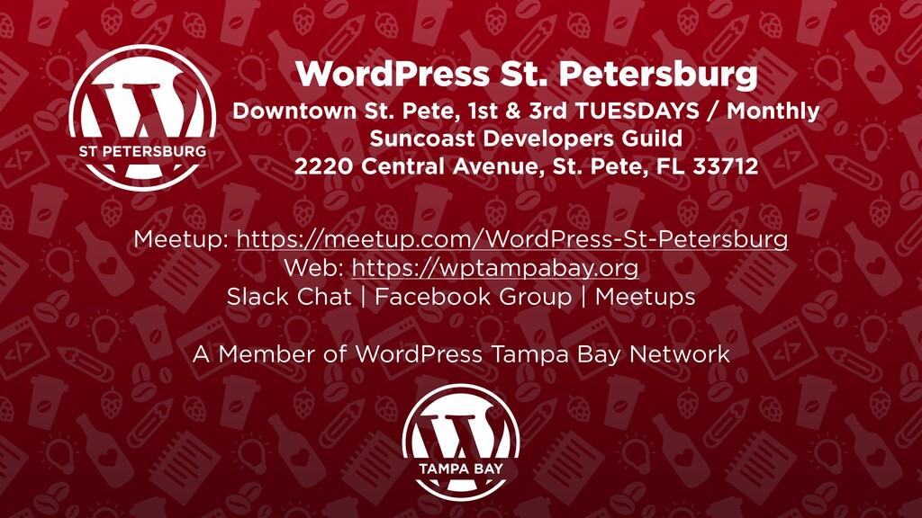 WordPress St. Petersburg Downtown St. Pete, 1st...