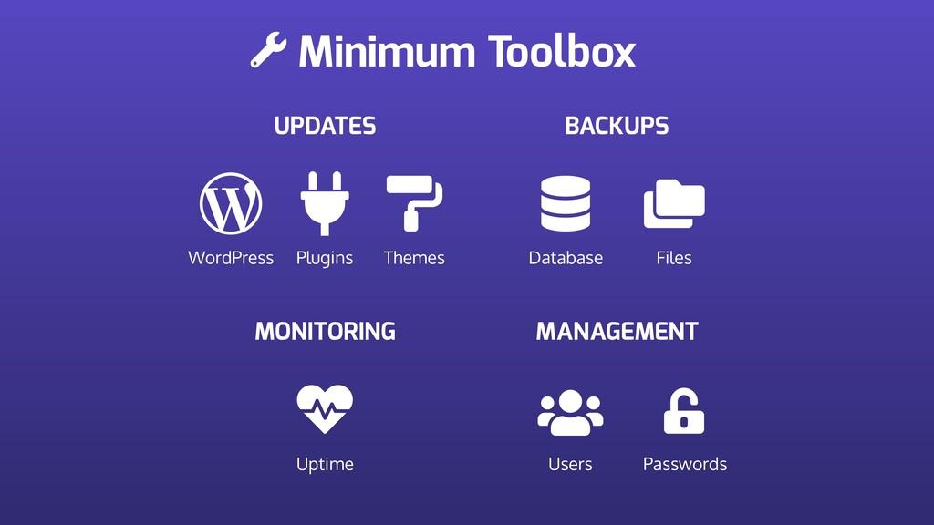 Minimum Toolbox UPDATES WordPress Plugins Theme...